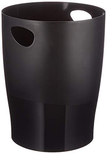 Exacompta 453014D Papierkorb Ecobin EcoBlack (robust und...