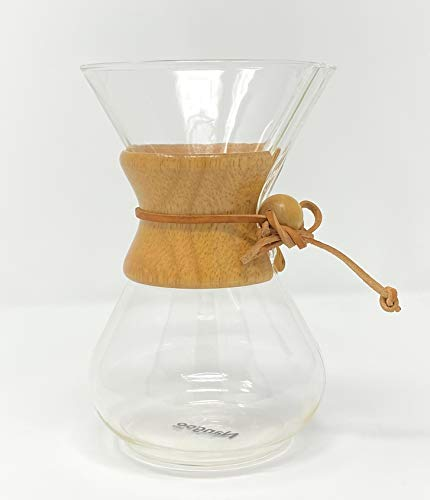 Chemex Kaffeekaraffee mit Holzhals - 6 Tassen
