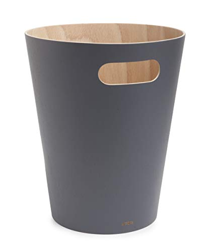 Umbra Woodrow Abfalleimer – Zweifarbiger Holz Papierkorb...