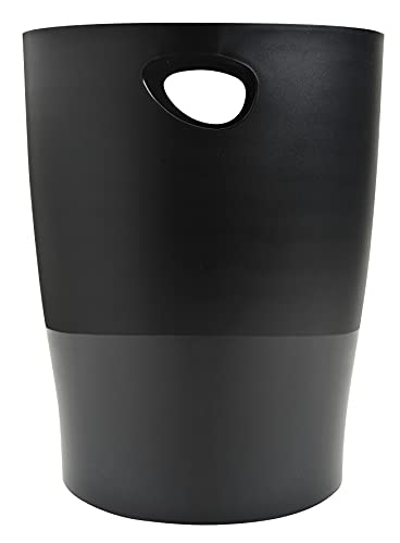 Exacompta 453014D ECOBIN Papierkorb EcoBlack 15 Liter mit...