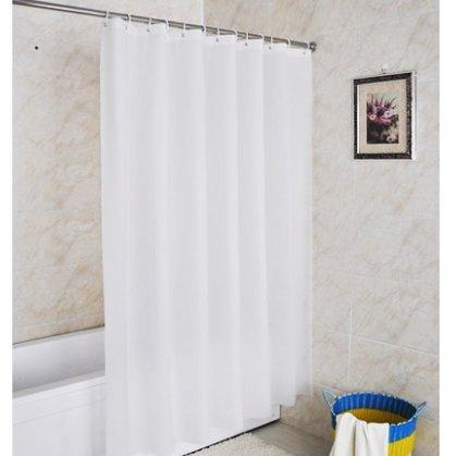 Duschvorhang Weiß Textil Stoff, LeHom 180x180 Cm...