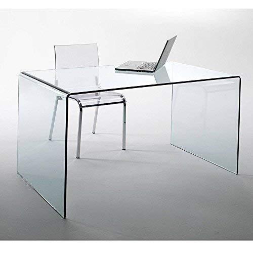lounge-zone Design Glas Schreibtisch Chalet fromgebogenes...