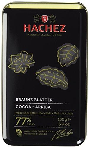 Hachez Braune Blätter Cocoa d'Arriba Classic, Metalldose,...