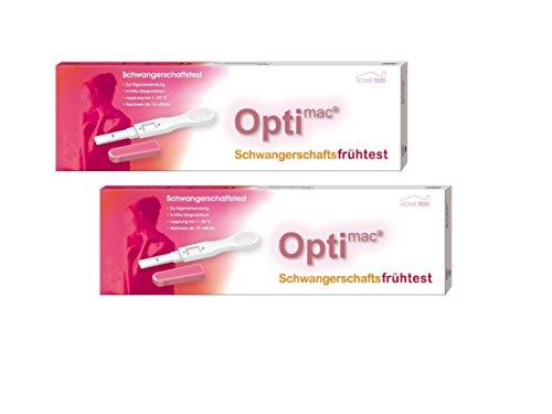 2x OPTIMAC Schwangerschafts Frühtest 1 Stück Teststreifen