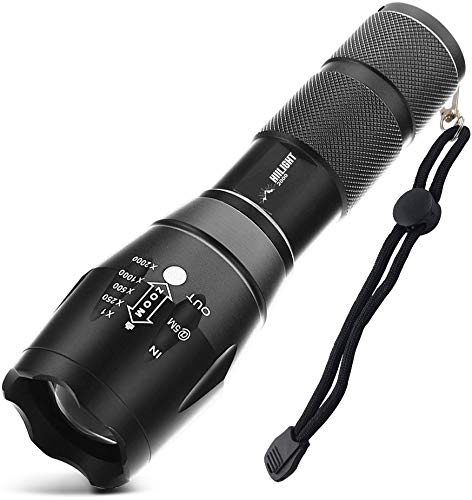 HIILIGHT LED Taschenlampe 2000 Extrem Hell - CREE XM-L T6,...