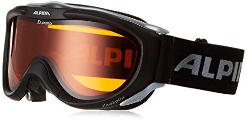 Alpina Skibrille FreeSpirit, schwarz transparent dlh (black...