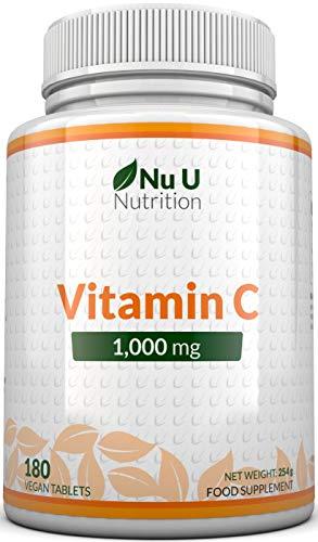 Vitamin C 1000 mg hochdosiert - für Immunsystem & Kollagen...