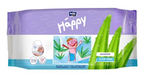 Bella Baby Happy Feuchttücher Sensitive 56 Stück, 6er Pack...