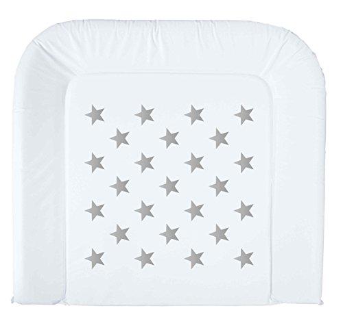 bébé-jou 680237 Wickelauflage 2K Silver Stars, Sterne ,...