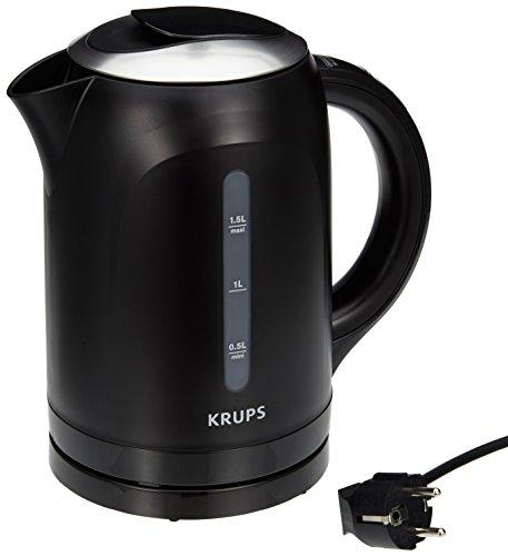 Krups BW410 Wasserkocher mit Display / 2400 Watt / schwarz