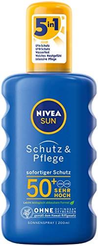 NIVEA SUN Schutz & Pflege Sonnenspray im 1er Pack (1 x 200...