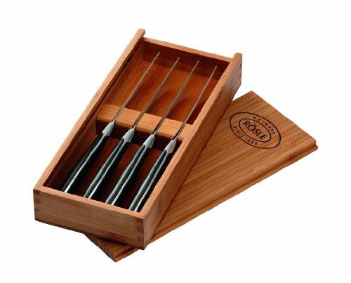 Rösle 96651 Steakmesser 4-er Set in Holzbox