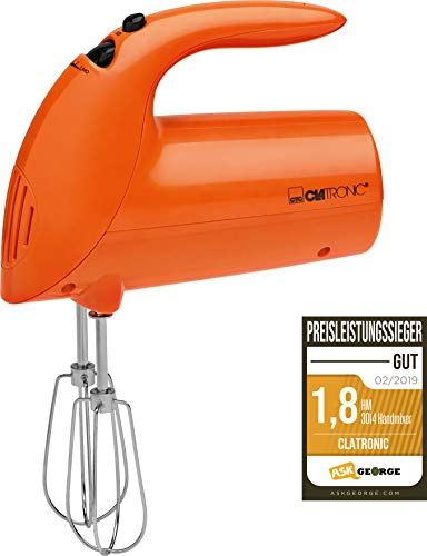 Clatronic Handmixer HM 3014 /// Edelstahlquirle & -knethaken...
