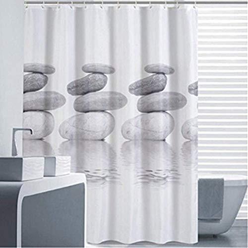 Goldbeing Duschvorhang 240x200 Textil Grau Pebble...
