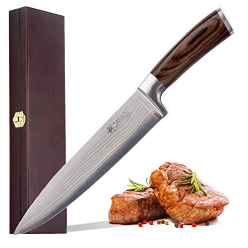 Wakoli Edib Damastmesser Chefmesser, Klinge 20,00 cm Länge...