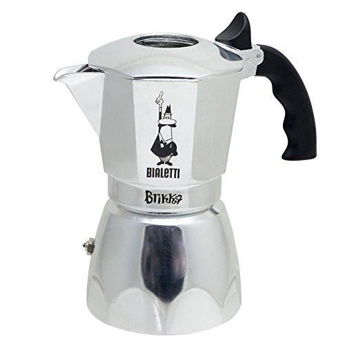 Bialetti Brikka 4 Tassen Espressokocher mit Cremaventil
