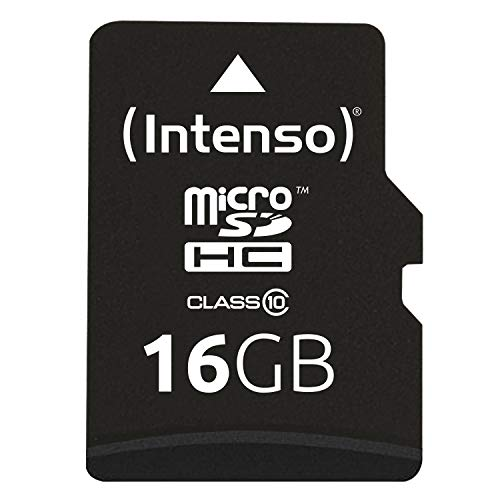 Intenso Micro SDHC 16GB Class 10 Speicherkarte inkl....