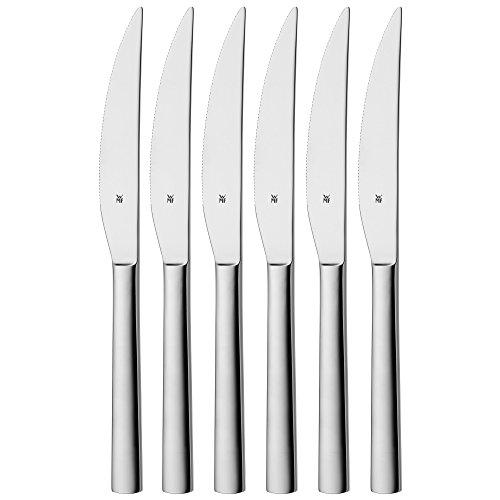 WMF Nuova Steakmesser, Set 6-teilig, 23 cm, Pizzabesteck,...