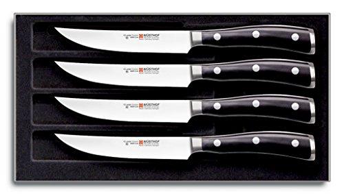 WÜSTHOF Steakmessersatz Messer, Stahl, schwarz, 26.5 x 14 x...