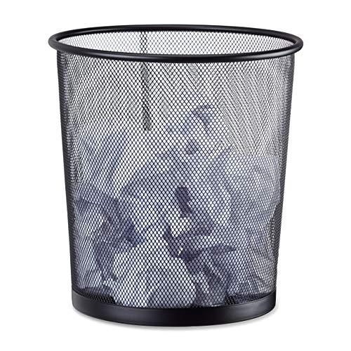 Relaxdays Papierkorb Metall, Mülleimer aus Drahtgeflecht,...