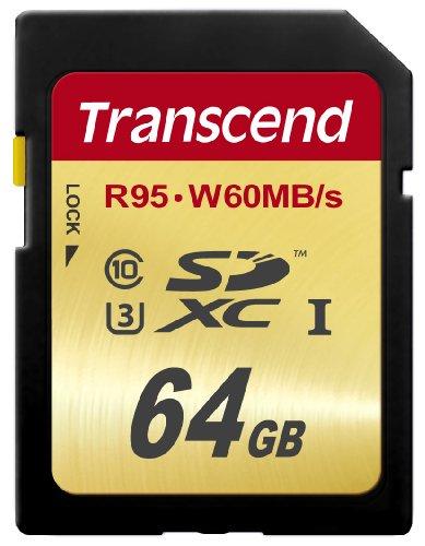 Transcend TS64GSDU3E SDXC 64 GB UHS-I U3 Speicherkarte