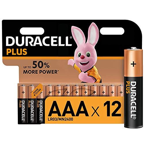 Duracell Plus AAA Micro Alkaline Batterien LR03, 12er Pack