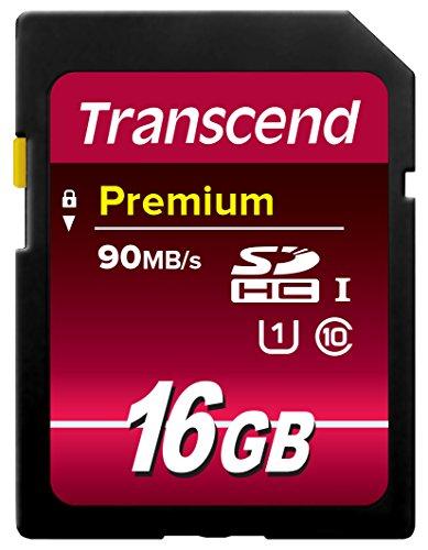 Transcend TS16GSDU1 Class 10 Premium SDHC 16GB Speicherkarte...