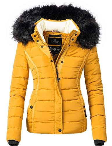 Navahoo Damen Winter Jacke Steppjacke mit abnehmbarem...