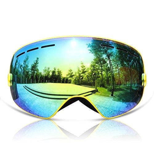 GANZTON Skibrille Snowboard Brille Doppel-Objektiv UV-Schutz...
