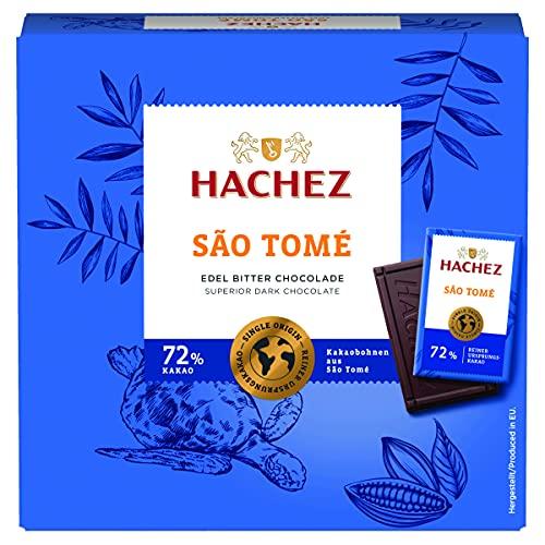 Hachez Ursprungstäfelchenbox Sao Tomé, 4er Pack (4 x 165...