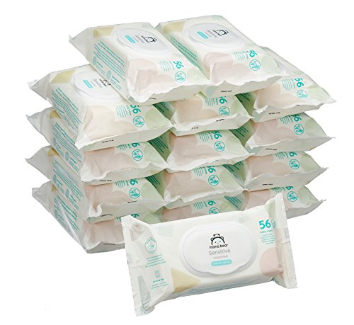 Amazon Marke -  Mama Bear Sensitive Baby-Feuchttücher -...