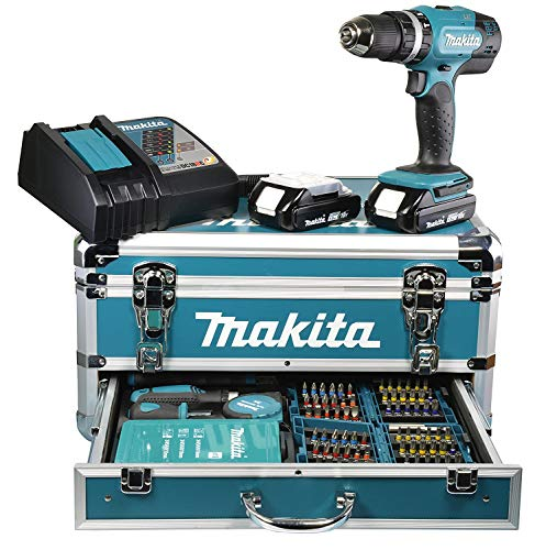 Makita DHP453RFX2 Akku-Schlagbohrschrauber 18 V / 3,0 Ah im...