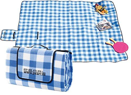 PEARL Picknickdecke: Fleece-Picknick-Decke mit...