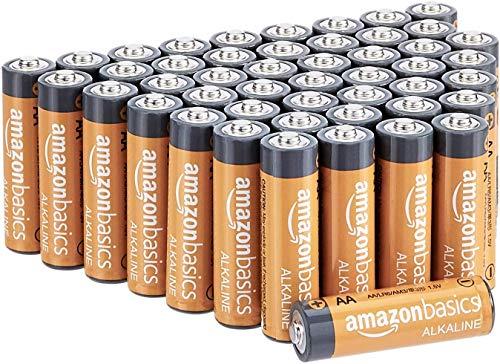 AmazonBasics AA-Alkalibatterien, leistungsstark, 1,5V, 48...