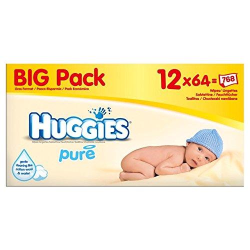Huggies Pure Baby Wipes Big Pack 12 x 56 per pack