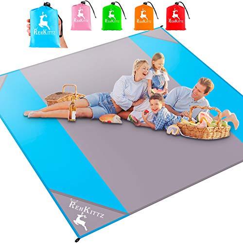 AMZOON 215 x 215 cm XXL Picknickdecke Wasserdicht...