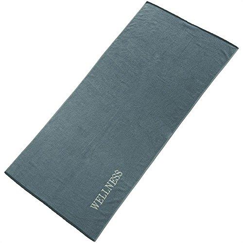 aqua-textil Wellness Saunatuch 80 x 200 cm Uni grau...