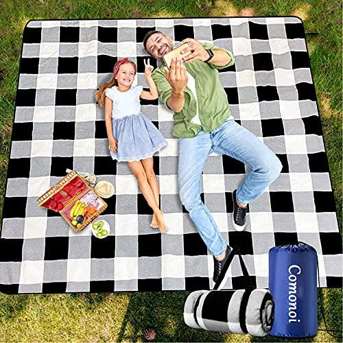 Picknickdecke 200 x 200 cm Picknickdecke Wasserdicht...