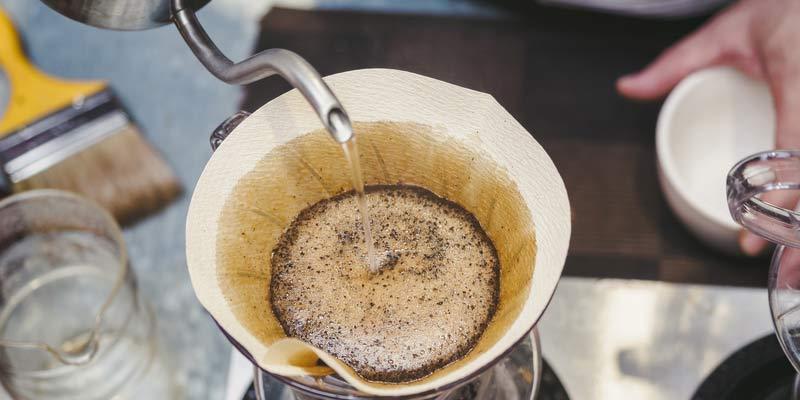 Hand Kaffeefilter Hipster Barista