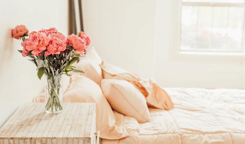 Schlafzimmer Farben und Dekoration